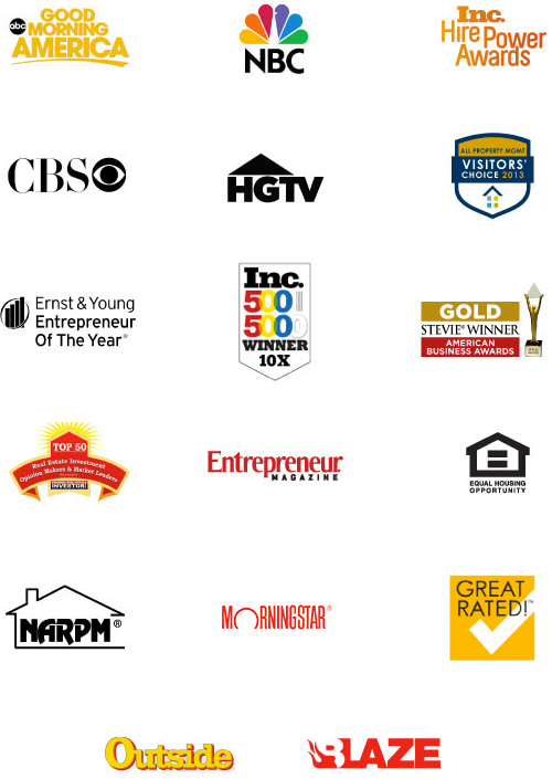 Renters Warehouse Awards Logos